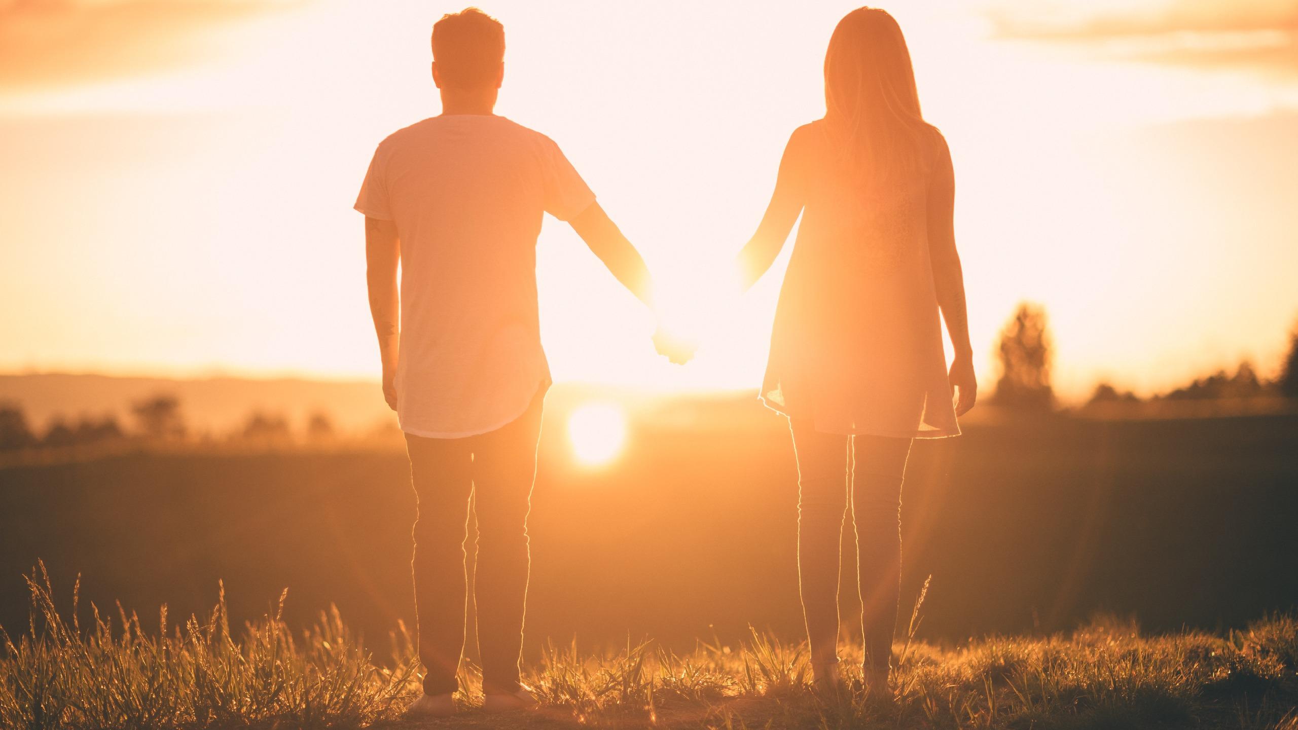 Roma romantica coppia tramonto